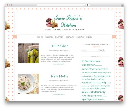 Sugar and Spice WordPress theme - susiebakerskitchen.com