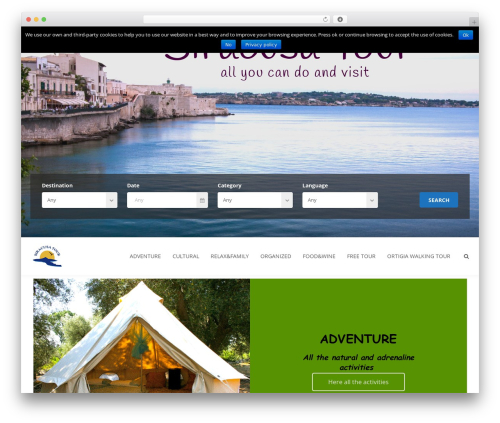 Theme WordPress Aventura - siracusatour.com/?password-protected=login&redirect_to=siracusatour.com