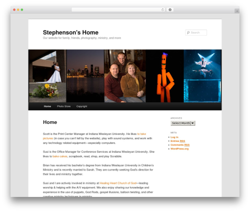 Twenty Eleven best WordPress theme - stephensonshome.com