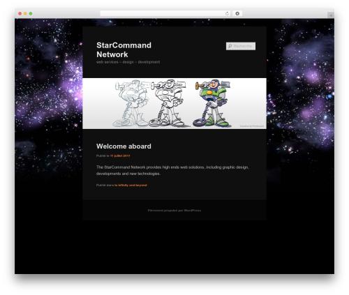Twenty Eleven WordPress page template - starcommand.org