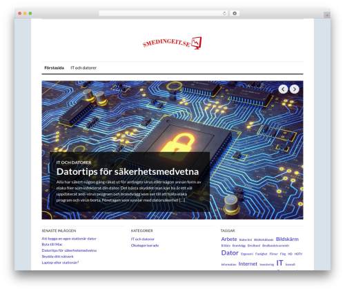 WordPress theme OriginMag - smedingeit.se