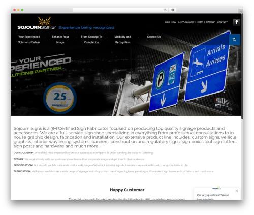WordPress website template Effektive - sojournsigns.ca