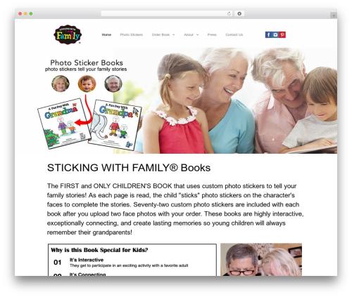 Best WordPress template Gemini - stickingwithfamily.com