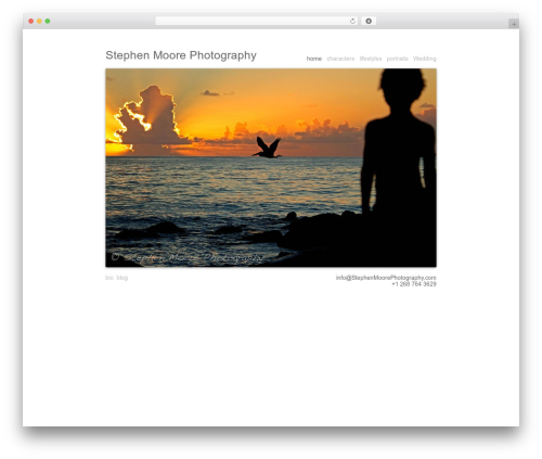 Blank Theme WordPress theme image - stephenmoorephotography.com
