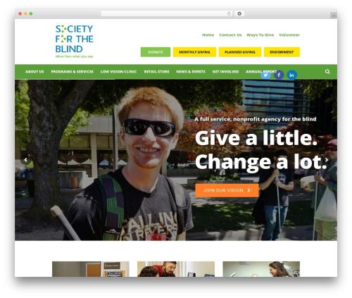Charity Is Hope WordPress theme - societyfortheblind.org