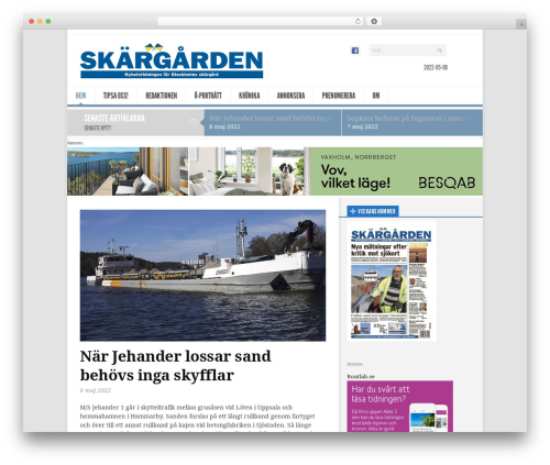 Newsroom best WordPress magazine theme - skargarden.se