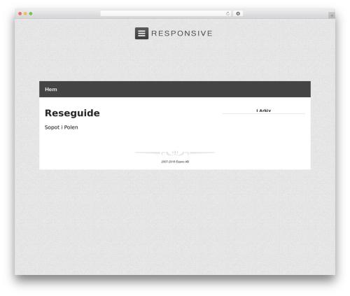 Responsive Pro premium WordPress theme - sopot.se