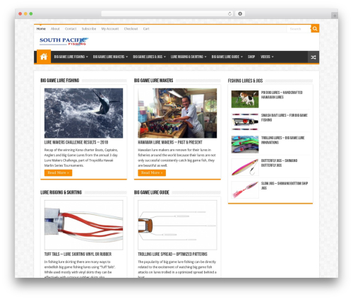 WordPress woo-gutenberg-products-block plugin - southpacificfishing.com