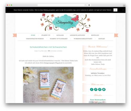 Theme WordPress Sugar and Spice - stampinblog.de