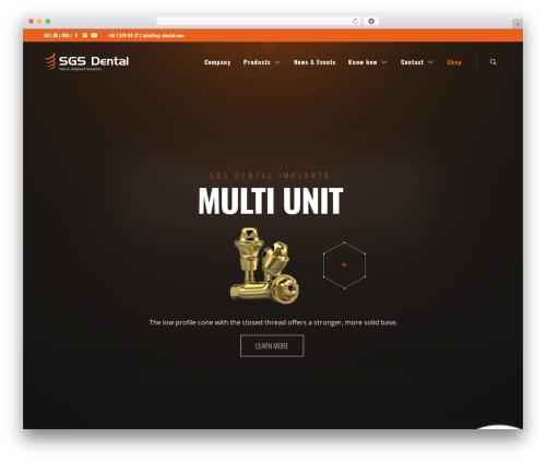 UX Shop WordPress ecommerce theme - sgs-dental.com