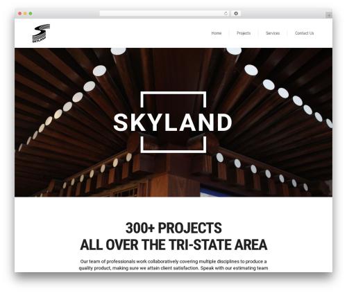 WordPress template Aalto - skylandus.com