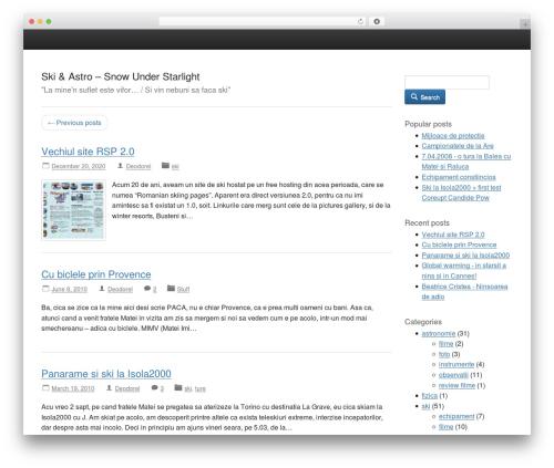 Activetab free WordPress theme - snowunderstarlight.com