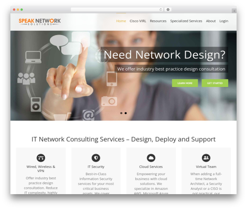 Avada theme WordPress - speaknetworks.com
