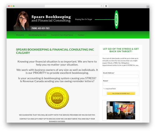 Coller free WordPress theme - spearsbookkeeping.com