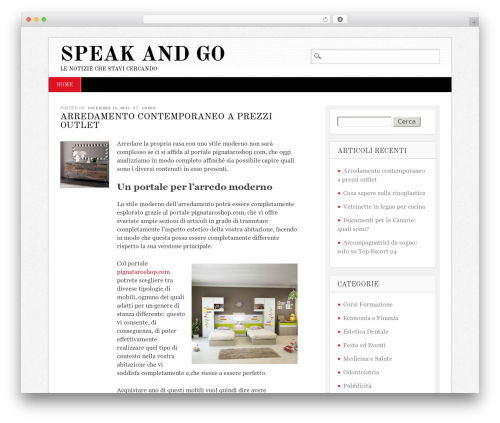Diginews WordPress news template - speakandgo.it