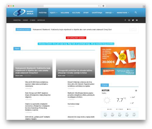 Newspaper best WordPress magazine theme - skalaradio.com