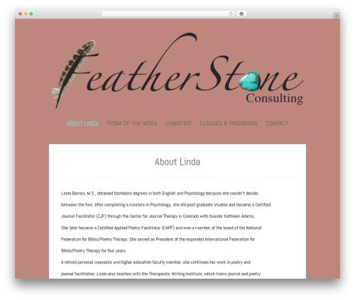 Polar Lite free website theme - lindabarneswriting.com