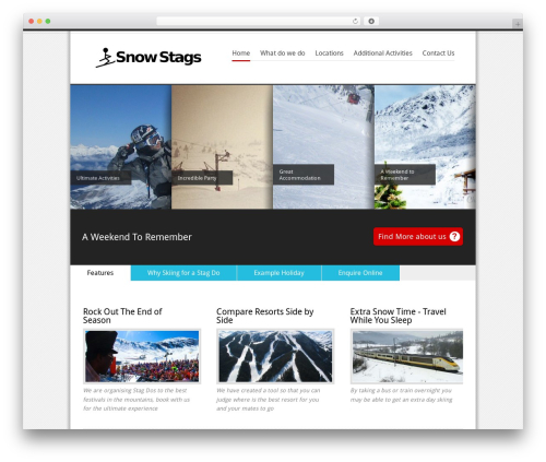 Revolution premium WordPress theme - snowstags.com
