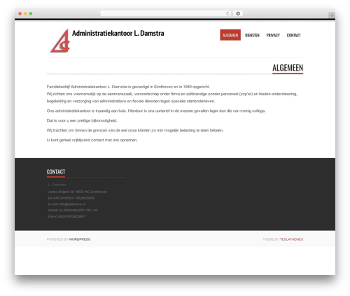 Tesla theme WordPress - ldamstra.nl
