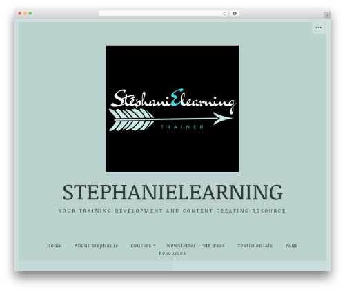 WordPress template Passenger - stephanielearning.com