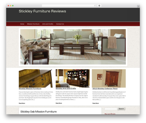 WordPress theme Builder - stickleyfurniturereviews.com