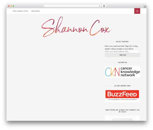 WordPress theme Florence - shannoncox.net
