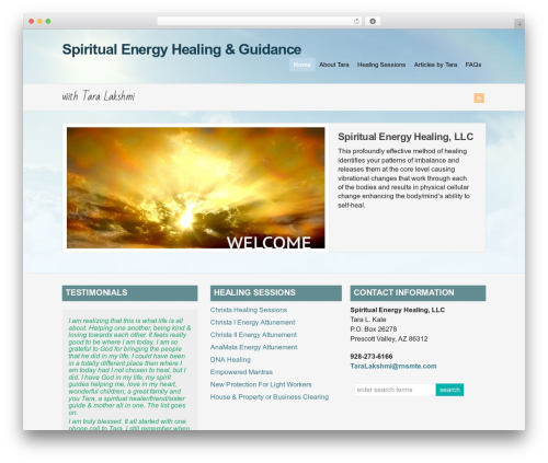 WP-Brilliance WordPress template - spiritualenergyhealing.com/seh