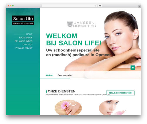 BeautySpot premium WordPress theme - salonlife.nl
