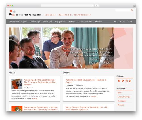 Dynamik-Gen WordPress page template - studyfoundation.ch