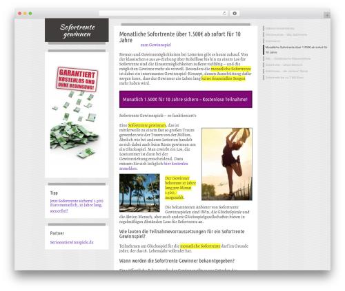 Firstyme theme WordPress - sofortrentegewinnen.de
