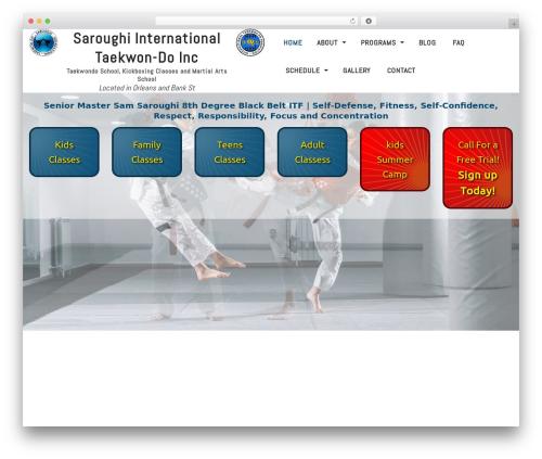 Martial Arts V8 WordPress template - saroughi.ca