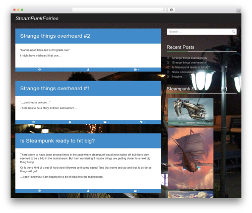 Radar template WordPress - steampunkfairies.com
