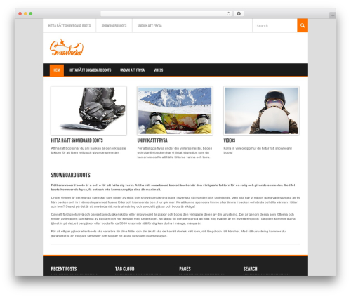 Theme WordPress Koenda - snowboardboots.se