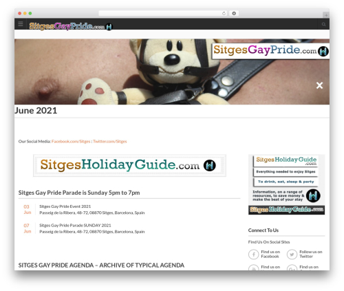 Best WordPress template Directory 2 - sitgesgaypride.com