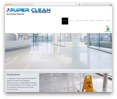 Janitorial 2 V8 WordPress page template - supercleanmaintenance.com