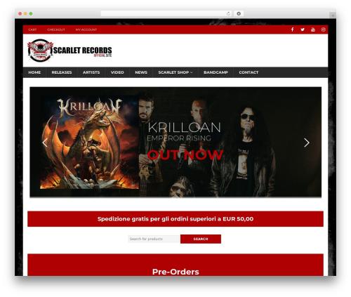 MH Magazine WordPress template - scarletrecords.it