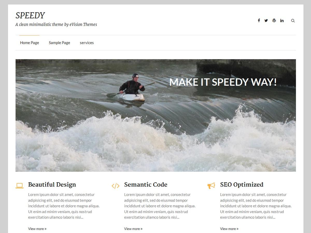 Speedy Thema 1 Intramed OnLine WordPress blog template