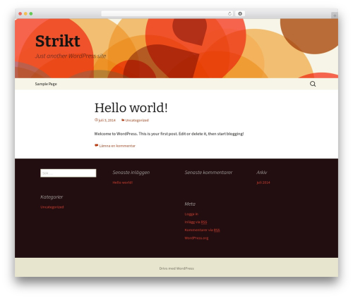 Twenty Thirteen free website theme - strikt.se