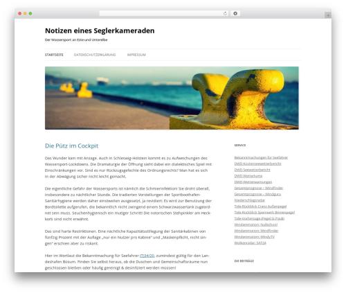 Twenty Twelve free WordPress theme - seglerkameradschaft.de