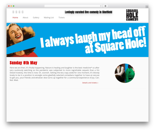 WordPress theme Customizr Pro - squareholecomedy.com