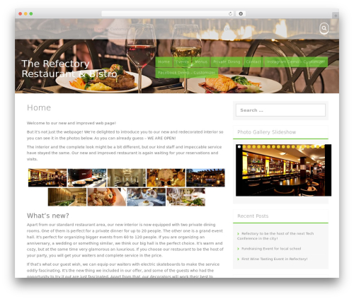Aldehyde WordPress template free - therefectoryrestaurant.com