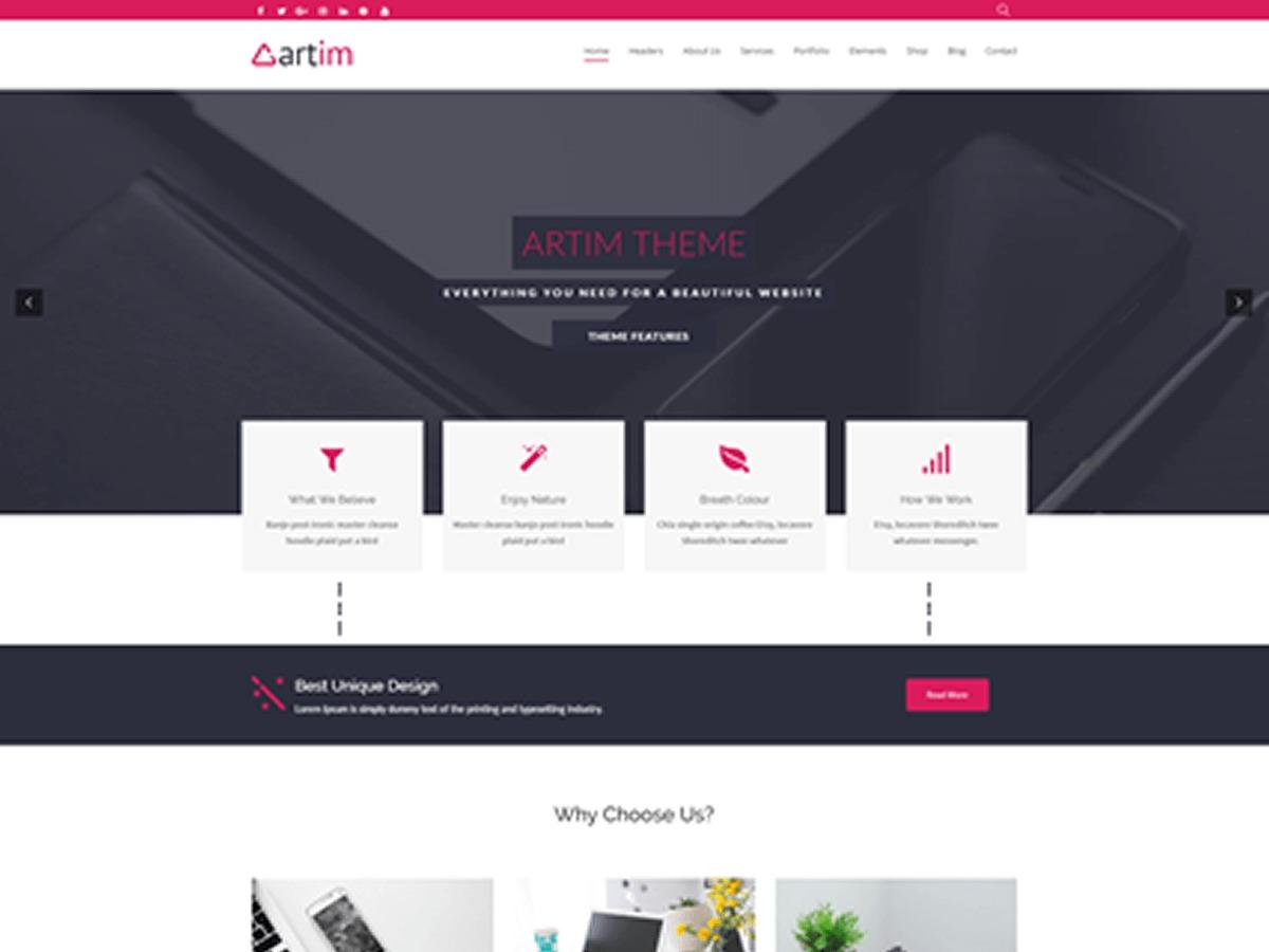Artim Theme theme WordPress