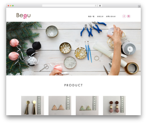 Beau WP theme - flower-beau.com
