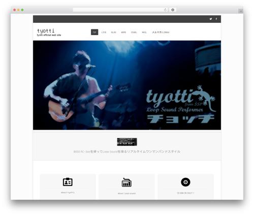 Bota free WP theme - tyotti.com