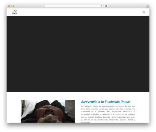 Divi template WordPress - fundacionunidas.org