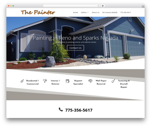 Divi WordPress template - thepainter.us