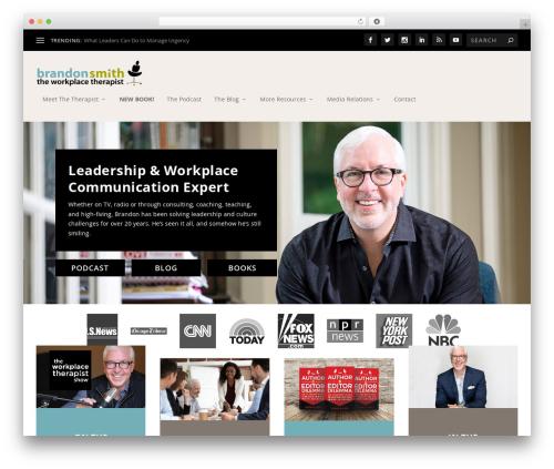 Extra WordPress theme design - theworkplacetherapist.com