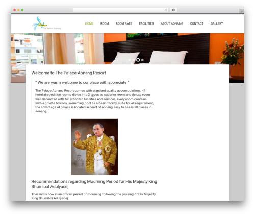 Hotec WordPress hotel theme - thepalace-aonang.com