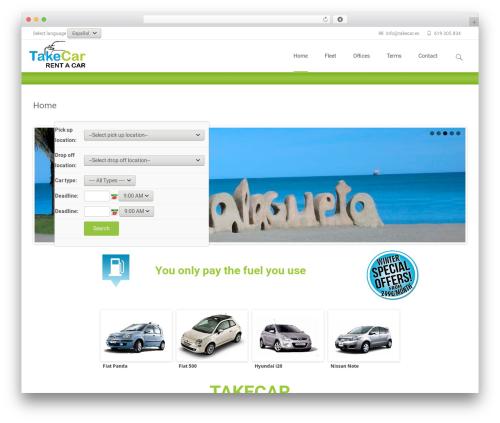 WordPress car plugin - takecar.es