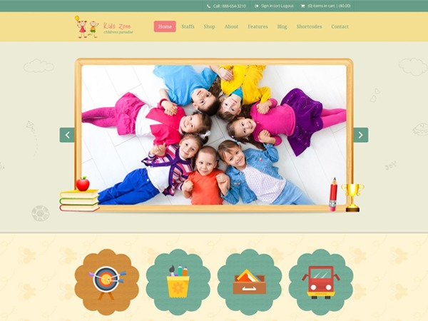 KidsZone best WordPress video theme